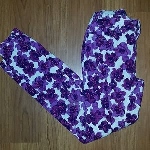 1989 Place jeggings w/ purple flower size 10 girls